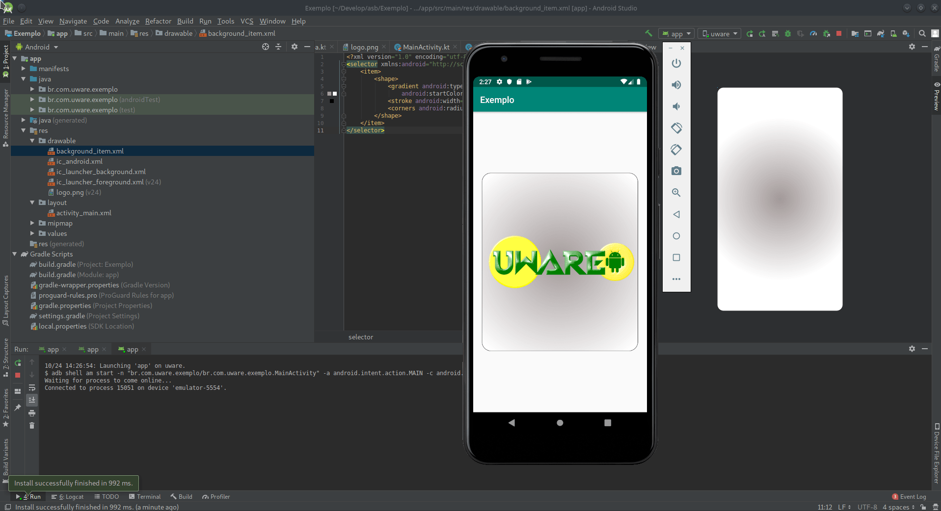 Como criar um Background no Android Studio